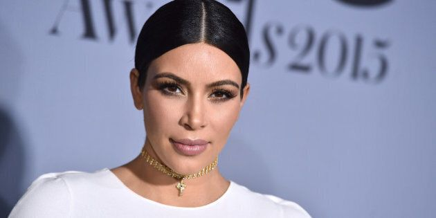 Kim Kardashian arrives at the inaugural InStyle Awards at The Getty Center on Monday, Oct. 26, 2015, in Los Angeles. (Photo by Jordan Strauss/Invision/AP)