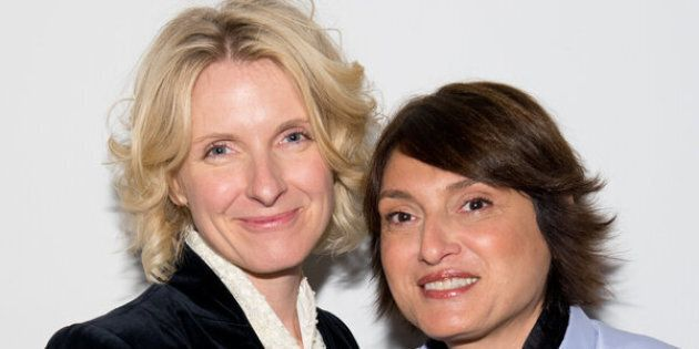 NEW YORK, NY - APRIL 02: Authors Elizabeth Gilbert and Rayya Elias attend Rayya Elias In Conversation With Elizabeth Gilbert at PowerHouse Arena on April 2, 2014 in the Brooklyn borough of New York City. (Photo by Noam Galai/Getty Images)