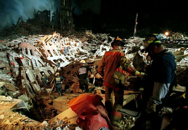 An Urban Rescue Task Force enters the site on September 20,