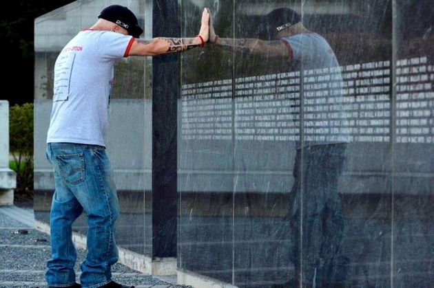 The names of first responders who died is added to each