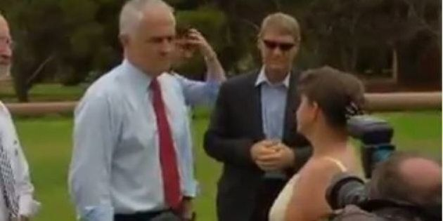 A Woman Interrupted Malcolm Turnbull's Press Conference To Berate Him Over Free