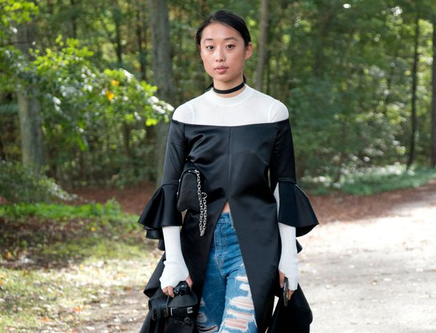 Margaret Zhang on the job at London Fashion