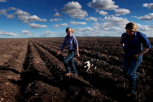Members of the Liverpool Plains Youth Group on the black soils of Breeza Station in