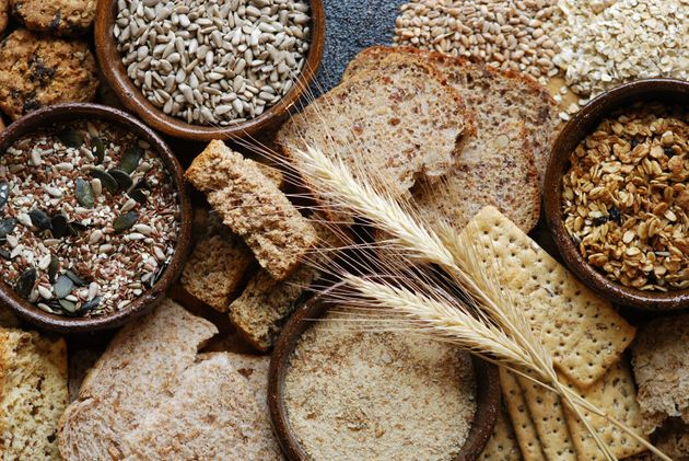 Whole grains like oats, barley and whole wheat help keep us fuller for