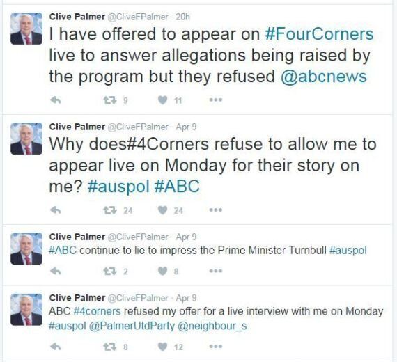 Clive Palmer Is Fired Up Over A Four Corners Report On QLD