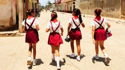 50 Captivating Photos Of Girls Going To School Around The