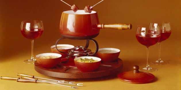 Fondue with red