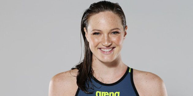 BRISBANE, AUSTRALIA - FEBRUARY 23: Australian Swimmer Cate Campbell poses during a portrait session on...