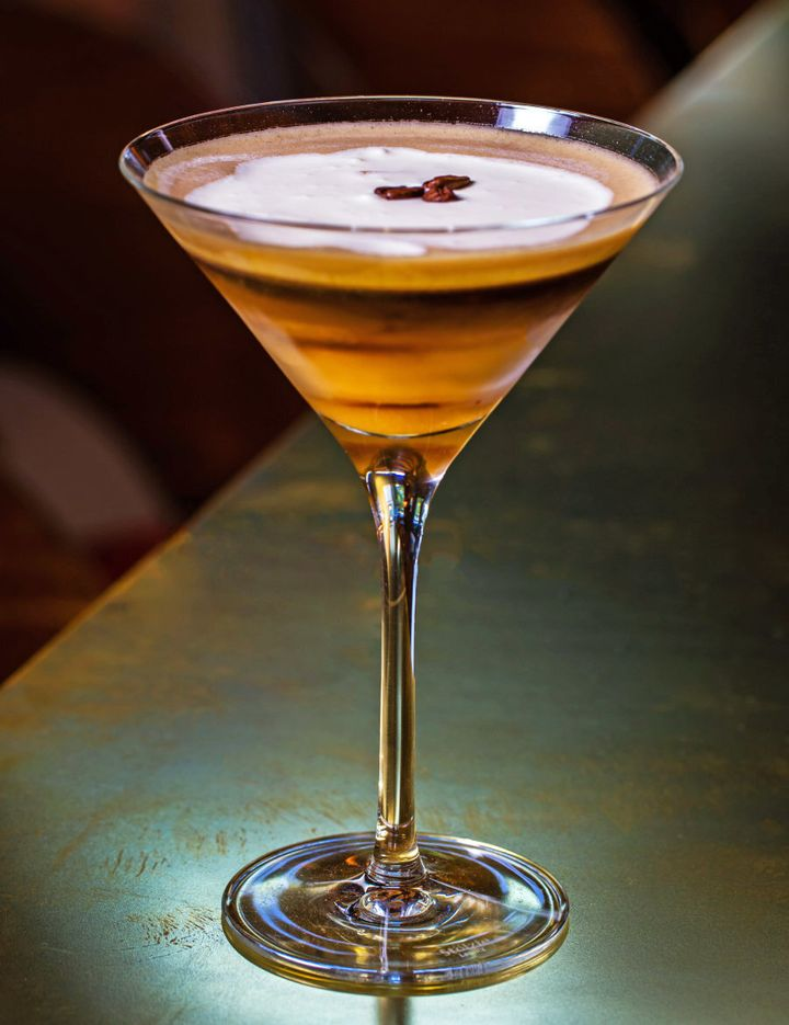 This dessert inspired espresso martini is strong, decadent and creamy.