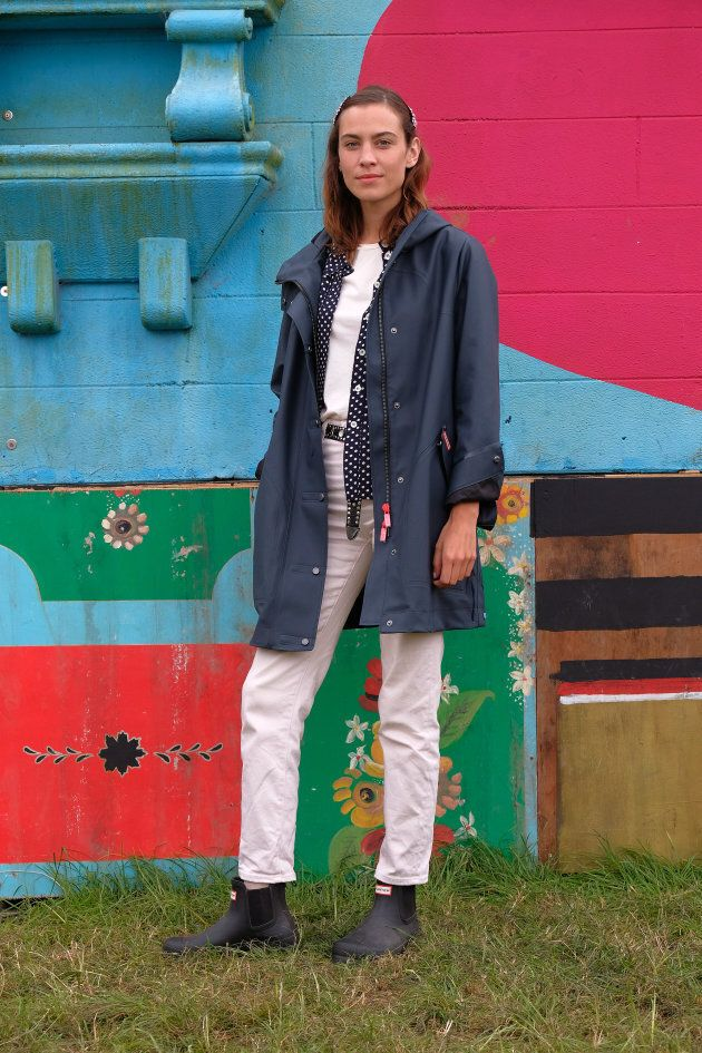 Alexa Chung at Glastonbury 2017