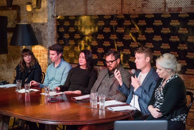 The press conference in Melbourne launching Your Choice