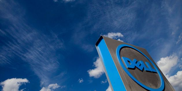 Dell Inc. signage is displayed outside of the company's headquarters in Austin, Texas on Feb. 18, 2013....