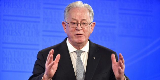 Andrew Robb, Australia's trade and investment minister, speaks at the National Press Club in Canberra,...