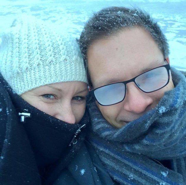 Justine Damond on holiday with fiancé Don.