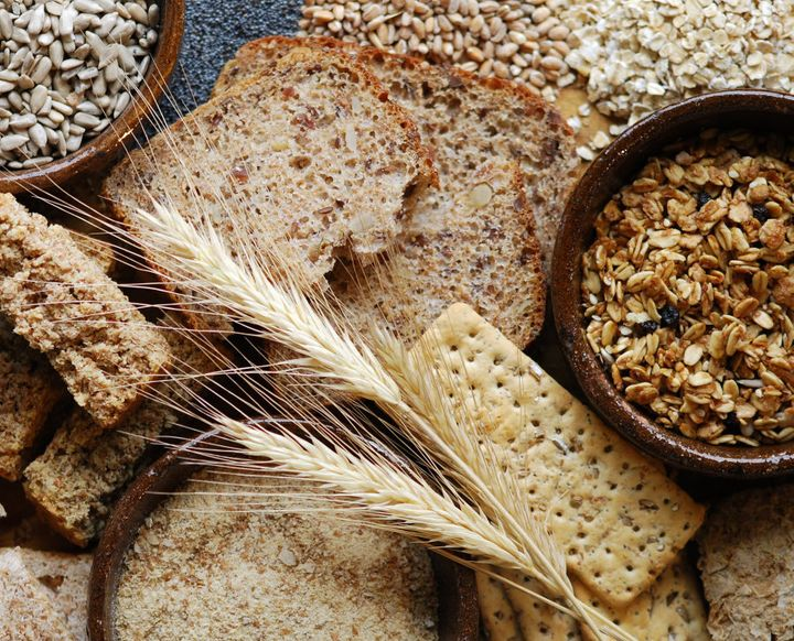 Opt for complex carbs like sweet potato, whole grain bread and crackers, rolled oats and wholemeal pasta.