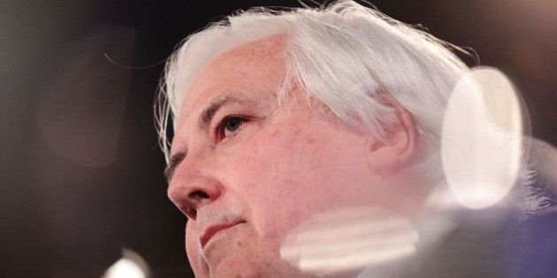 CANBERRA, AUSTRALIA - JULY 07: Clive Palmer speaks at National Press Club on July 7, 2014 in Canberra,...