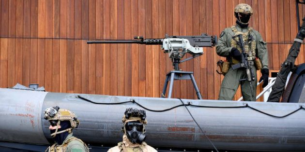 Special Operations Command soldiers are seen posing at Holsworthy Barracks in