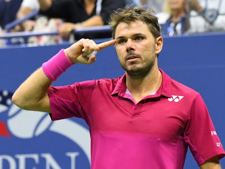 Wawrinka often points to his temple to remind himself to play smart.