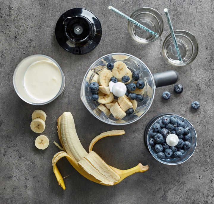 If the taste of protein powder is off-putting, try blending it with some banana, blueberries and yoghurt.