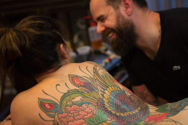 Kian Forrea, tattoo artist and founder of Authentink