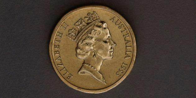 AUSTRALIA - JUNE 15: 1 dollar coin, 1993, obverse depicting Elizabeth II (1926 -). Australia, 20th century....