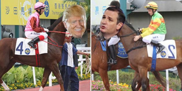 Cruz beats Trump. But It Was Only A Horse