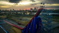 The Biggest, Steepest, Tallest Inflatable Waterslide In The World Is In