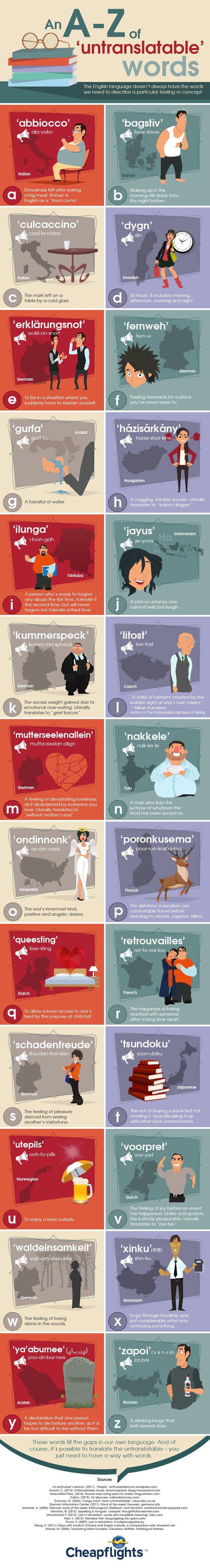 Fascinating Untranslatable Words From Around The