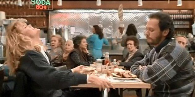 The famous faked orgasm scene in 'When Harry Met Sally' is