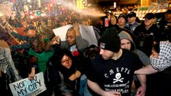Police Pepper-Spray Protesters At Donald Trump