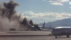 British Airways Flight Catches Fire At Las Vegas