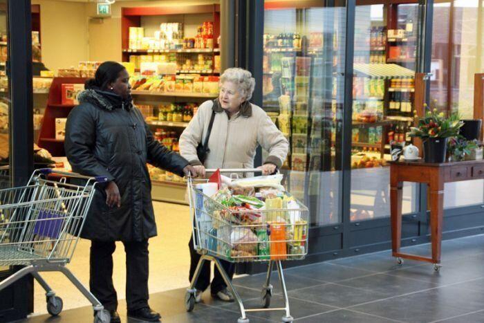 De Hogeweyk village in the Netherlands for people with dementia.