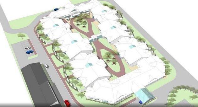 An artists picture of the proposed dementia village
