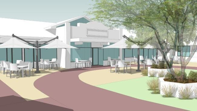 An artists' impression of the Korongee village in Tasmania for people living with dementia.