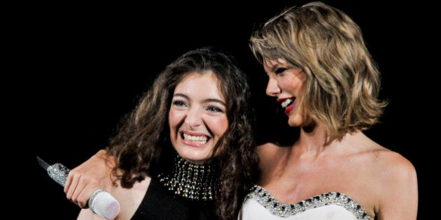 WASHINGTON, DC - JULY 13: Taylor Swift and Lorde perform onstage during The 1989 World Tour Live at Nationals...
