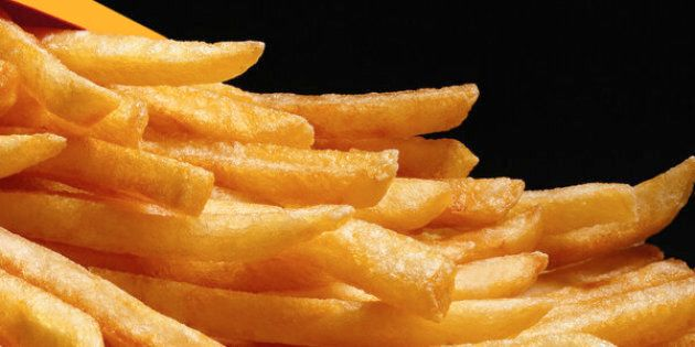 French fried potatoes, close-up