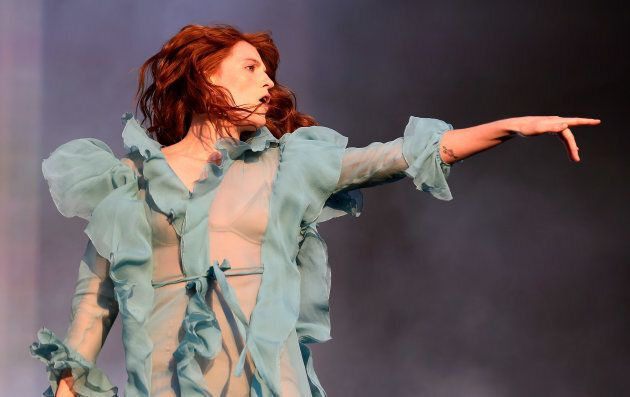 Florence Welch of Florence and the Machine is the perfect shade of vibrant