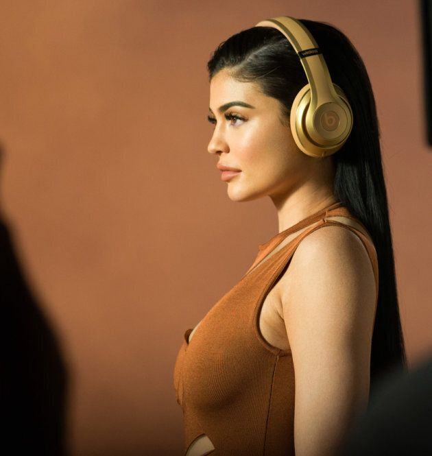 A shot from the ad shoot featuring Kylie