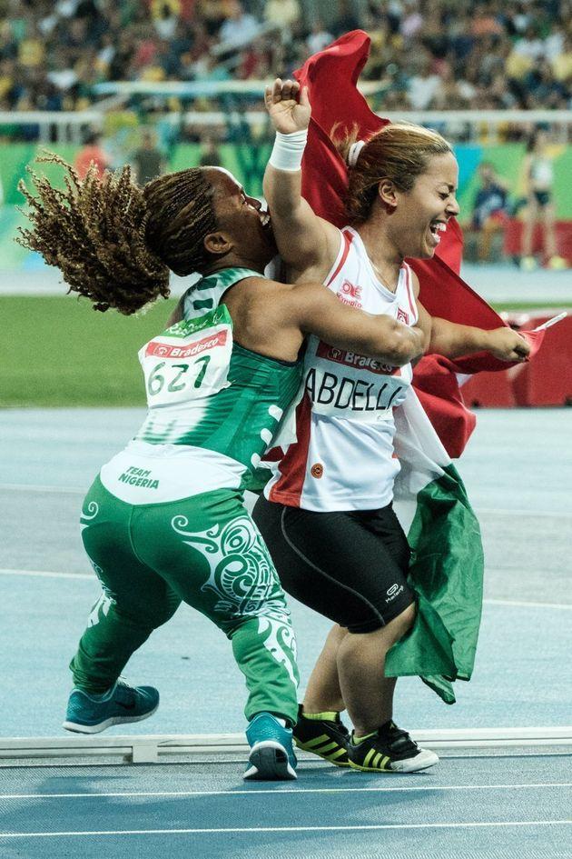 She wins at sportsmanship