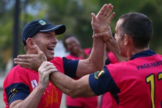 Tony Abbott Plays Football In Papua New