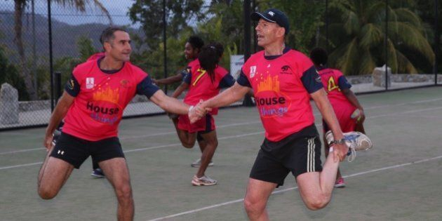 Tony Abbott Plays Football In Papua New