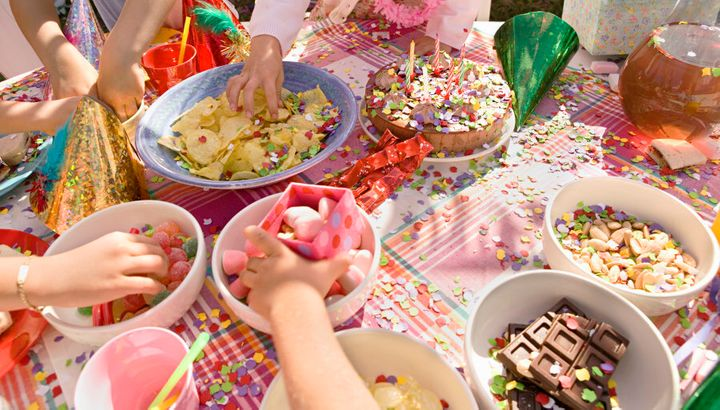 What's a kid's party without a food table?