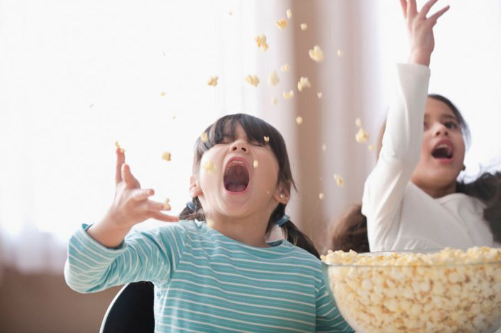 Popcorn is always popular with kids, and tends to be a pretty safe bet, too.
