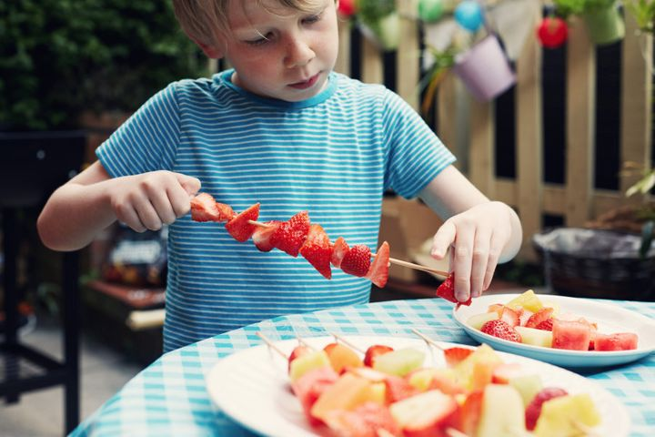 Fruit kebabs are a relatively safe (and healthy!) food option.