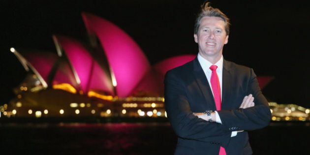 SYDNEY, AUSTRALIA - SEPTEMBER 16: Glen McGrath stands in front of the Sydney Opera House, with its sails...