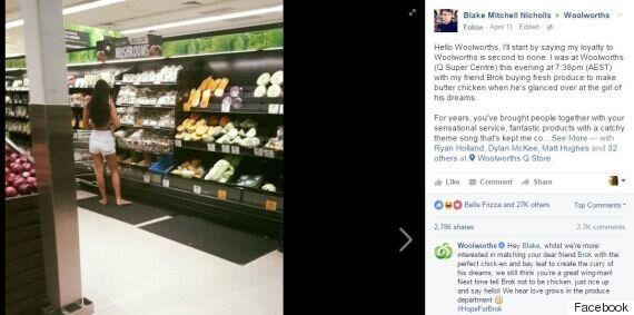 Supermarket Creeper Takes Photo Of Stranger, Announces He'll Be Waiting Every