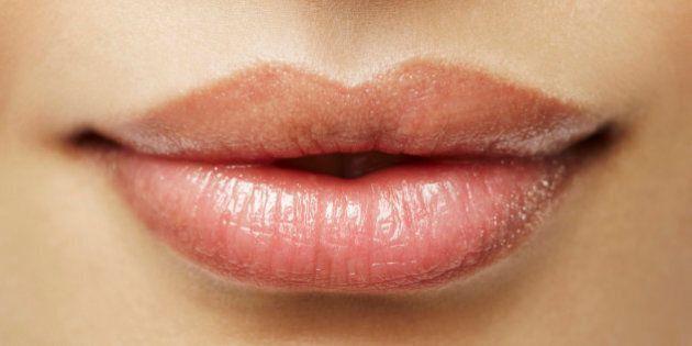 Beauty shot of lips, natural