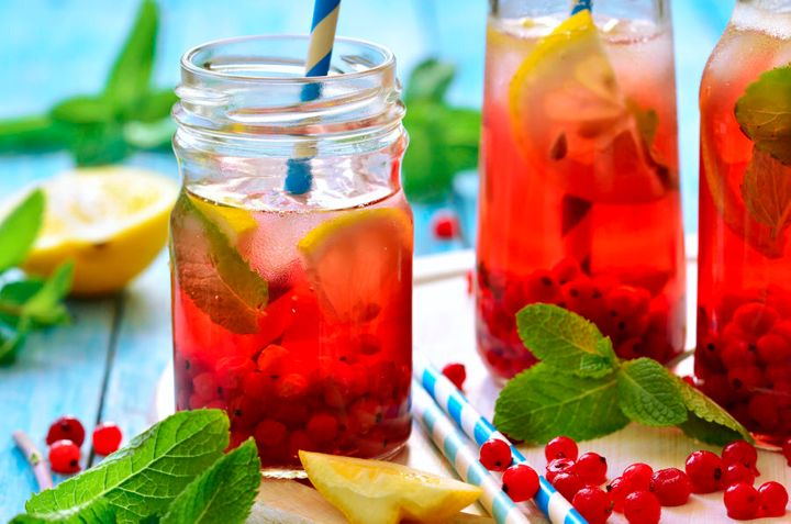 Try infusing water water with berries, lemon, ice and mint.