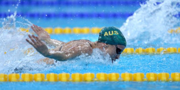 DUBAI, UNITED ARAB EMIRATES - AUGUST 31: Marieke D'Cruz of Australia competes in the Women's 100m Butterfly...