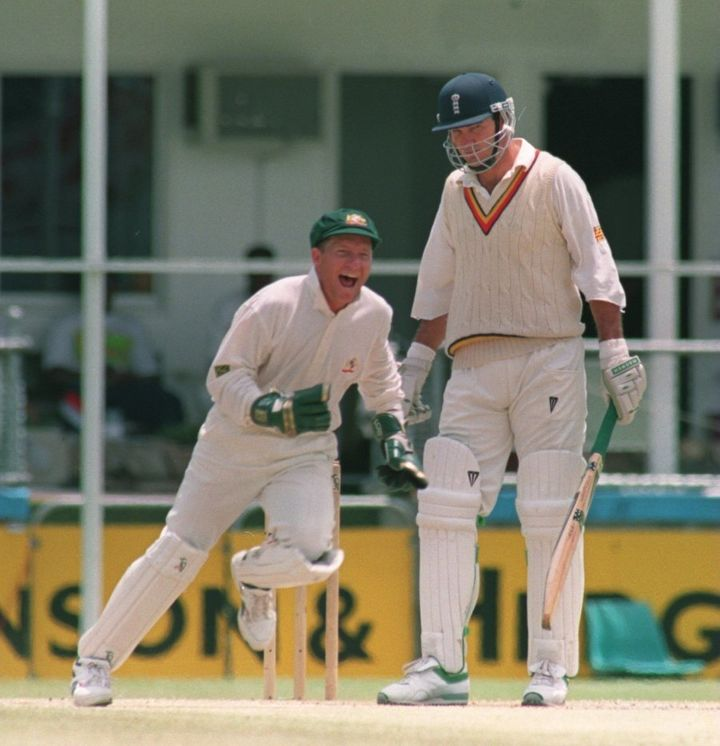 This kind of thing happened to Hick a lot back in the day. This pic is from 1994, and Hick has just been dismissed off the bowling of Shane Warne.